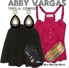Inspired by Cassie Steele as Abby Vargas on The L.A. Complex.