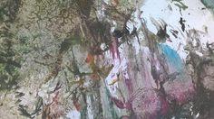 """Tämä Juuso Karhun luovuuden hedelmä on taidehistorioitsija Ville Lukkarisen suosikki. """"Pidän maalauksen informalistisesta dynamiikasta ja värinkäytöstä."""""""