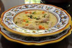 waterzooi de poulet- belgian chicken soup.   Yum! @memorie di angelina
