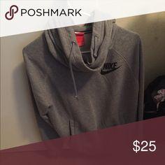 Nike Sweatshirt Nike sweatshirt gray to big for me never worn it Nike Jackets & Coats