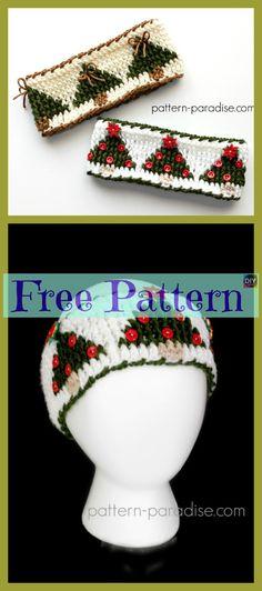 Crochet Hair Bows, Crochet Headbands, Knit Or Crochet, Crochet Doilies, Crochet Crafts, Crochet Clothes, Crochet Projects, Crochet Christmas Trees, Holiday Crochet