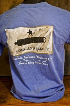 Come and Take It - Pocket T-Shirt by Buffalo Jackso, Old Glory, Flag, Republican, Conservative, GOP, Texas,
