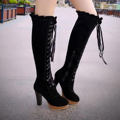 Design: round toe and height boots Heels height: 9.8cm/3.85″Platform height: 2.2cm/0.86″Boots height: 45cm–50cm/17.71-19.68″ (not include the heels)Max width of Calf Cir: 37.5cm/14.76″ ( in the middle of the boots)Max width of boots: 43cm/16.92″ ( over knees part)Please do check your foot length measurement and choose the right size.Please read below before place an order, thank you :)- Please inform us your regular shoes size like this: Regular wear US 9, foot length 25cmSize are standard size, Long Boots, High Boots, Black Boots, Casual Winter Boots, Cute Clothing Stores, Bohemian Shoes, Women's Motorcycle Boots, Snow Boots Women, Brown Heels