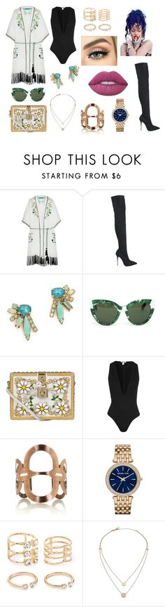 """#184"" by twinklelady ❤ liked on Polyvore featuring Matthew Williamson, Le Silla, Elizabeth Cole, Dolce&Gabbana, Missoni, Michael Kors, Forever 21 and Lime Crime"