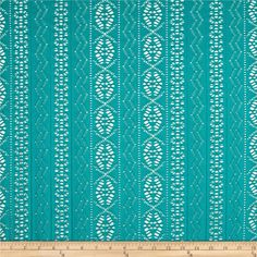 Telio Siesta Eyelet Stretch Lace Turquoise from @fabricdotcom  From Telio, this unique eyelet knit fabric features the stretch of a knit, with the eyelet patterning of a shirting. It is perfect for overlays on fun spring and summer dresses, skirts, and more. Fabric features 50% four-way stretch.