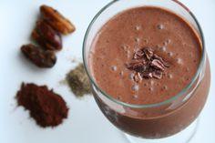 Dairy Free Chocolate Milkshake (Sweetened with Fruit)