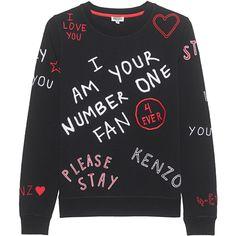 Kenzo 'I Love You' sweatshirt Embroidered Sweatshirts, Printed Sweatshirts, Mens Sweatshirts, Hoodies, Gucci Sweatshirt, Sweater Shirt, Crew Neck Sweatshirt, Colorful Fashion, Kids Fashion