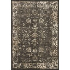 Safavieh Vintage Soft Anthracite Viscose Rug (5'3 x 7'6) - Safavieh's Vintage collection is inspired by timeless transitional designs crafted with the softest viscose available.  http://www.overstock.com/Home-Garden/Safavieh-