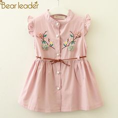 Cheap Dresses, Buy Directly from China Suppliers:Bear Leader Baby Dresses 2018 New Summer Baby Girls Clothes Flowers Embroidery Princess Newborn Dresses With elt For Kids Frocks, Frocks For Girls, Dresses Kids Girl, Baby Dresses, Cute Little Girl Dresses, Summer Dresses, Long Dresses, Cheap Dresses, Baby Outfits