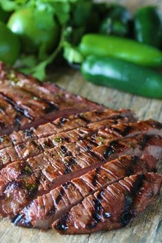 Marinated flank stea