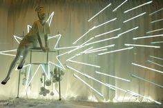 spark angel  Selfridges white Christmas windows