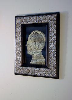 Medical Art Framed head scalp profile anatomical by ANKarabin, $125.00