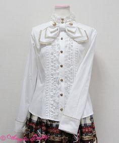 白いブラウスでお嬢様を演出するアイデア♡♡リボンとレースのお嬢様ブラウス.。.:*♡