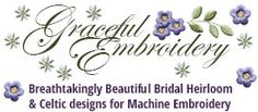 Graceful Embroidery. Beautiful, delicate designs here plus several freebies.
