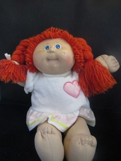 1b26e3bdce88f8 1982 Cabbage Patch Braided Red Hair Blue Eyes Doll  CabbagePatchKids   DollswithClothingAccessories Red Hair Blue