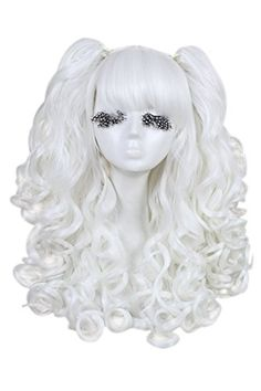 White Long Wavy Women Lolita with Removeable Ponytails Party Cosplay Costume Wig Costume Wigs, Cosplay Wigs, Cosplay Costumes, Halloween Costumes, Christmas Costumes, High Quality Wigs, Clip In Ponytail, Wig Party, Womens Wigs