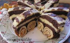 Hungarian Desserts, Hungarian Recipes, My Recipes, Cookie Recipes, Dessert Recipes, Fancy Desserts, Sweet And Salty, Cakes And More, Cake Cookies
