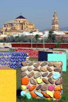 Parque de Miraflores con la Mezquita de fonto