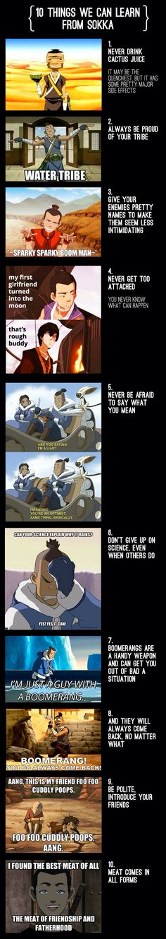Things we've learned from Sokka