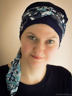 Chamomile is a perfect head scarf for any season and any occasion. Wear its ties to the side or to the back – your choice. 100% cotton lining gives you comfort. It comes as a single or multi-coloured scarf. Its stylish and trendy but at the same very practical. #cancer #headwear #headscarves