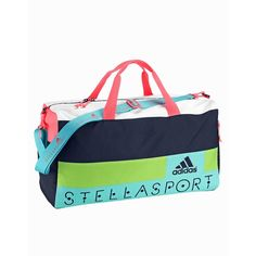Adidas Stellasport Sc Teambag 1 (300 SAR) ❤ liked on Polyvore featuring bags, handbags, accessories sport, indigo, sports fashion, womens-fashion, zipper bag, white sports bag, sports bag and white purse