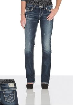 silver jeans co. � Suki contrast stitch Dark Wash Jeans (original price, $79) available at #Maurices