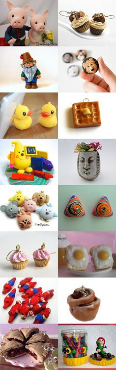 For the love of polymer clay by Sue Petri on Etsy--Pinned with TreasuryPin.com