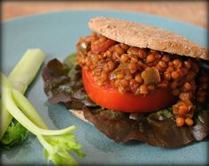 Slow Cooker Vegetarian Lentil Sloppy Joes. Great topped with a dollop of greek yogurt. Carnivorous hubby tried this the other day (slathered with some melty cheese, of course) and LOVED it.
