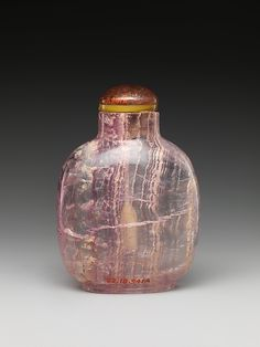 Amethyst Snuff Bottle ~ Qing Dynasty, late 18th - early 19th century Chinese