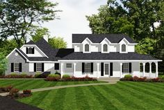 Farmhouse with Classy Master Suite - 3484VL | Architectural Designs - House Plans