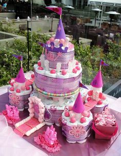 Jackie Sorkin's Fabulously Fun Candy Girls, Candy World, Candy Buffets & Event Industry Bl: A Whimisical Pink Custom Candy Buffet Bar & Custom Candy Princess Castle Diaper Cake 4 Sabreena's Baby Shower- L'Auberge Hotel, Del Mar, Ca