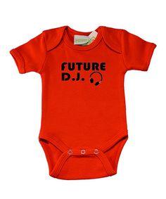 Look what I found on #zulily! Red 'Future DJ' Bodysuit - Infant #zulilyfinds