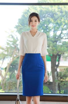 Korean Women`s Fashion Shopping Mall, Styleonme. Office Outfits Women, Business Casual Outfits, Professional Outfits, Mode Outfits, Business Fashion, Girls Fashion Clothes, Girl Fashion, Fashion Outfits, Clothes For Women