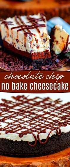 This easy No Bake Cheesecake is exactly what you are looking for! Perfectly creamy sweet and as close to a traditionally baked cheesecake as you can get. Made with real ingredients for a really amazing flavor! // Mom On Timeout #cheesecake #nobake #nobakecheesecake #dessert #desserts #chocolatechipcheesecake ...waterGrease and flour a 9 by 9 inch square cake pan Mix the dry ingredients in one bowl or in the pan the wet ingredients in another bowl and stir the...ce by starting with a simple… Brownie Desserts, Oreo Dessert, Mini Desserts, No Bake Chocolate Desserts, No Bake Chocolate Cheesecake, Easy No Bake Cheesecake, Baked Cheesecake Recipe, Homemade Chocolate, No Bake Desserts