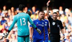 turning point . A red card for chelsea's goal keeper ( vs swansea city H)