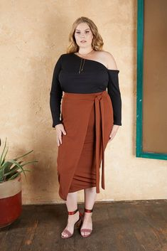 Shop hold me tight bodycon pencil skirt in toasted terracotta from the latest Soncy collection Satin Pencil Skirt, Long Pencil Skirt, High Waisted Pencil Skirt, Pencil Skirts, Plus Size Pencil Skirt, Jean Skirt Outfits, Pencil Skirt Outfits, Midi Wrap Skirt, Dress Skirt
