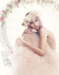 Soft tulle and pretty flowers