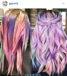 75 Crazy Pastel Hair Color Ideas For Unique Hairstyles Did this today love it, crazy hair color Unicorn Hair Color, Mermaid Hair Colors, Coloured Hair, Dream Hair, Hair Dos, Pretty Hairstyles, Unique Hairstyles, Natural Hairstyles, Short Hairstyles