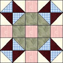 Block of Day - Broken Dishes Cross-strip piecing. Easy Quilt Patterns, Pattern Blocks, Stitch Patterns, Half Square Triangle Quilts, Square Quilt, Mug Rug Tutorial, Painted Barn Quilts, Flannel Quilts, December 26