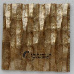 doğal deniz kabuğu mozaik çini, bal capiz kabuk fayans, dalga, mdf tahta backer#l085