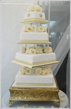 Wedding, Cake, White, Gold, Sweet traders