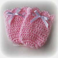 Vintage Swing Crochet Baby Mitts ~ Free Crochet Patterns and Designs by Lisa Auch