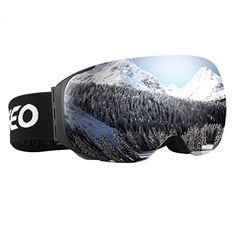 Enkeeo Ski Goggles Detachable Dual Layer Anti-Fog Lens 100% UV400 Protection Snow Goggles with Bendable Frame, Adjustable Anti-slip… #deals