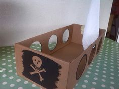 Bateau Pirate, Pirate Day, Container, Education, Handmade, Ideas, Home Decor, Cardboard Pirate Ships, Cardboard Play