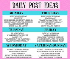 Love yourself, work from home and make money! Social Media Challenges, Social Media Content, Social Media Posting Schedule, Social Media Calendar, Social Media Tips, Beach Body Challenge, Interactive Posts, Tips Belleza, Plexus Products
