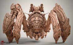Gears of War - Shibboleth clay model., Kamil Kozlowski on ArtStation at http://www.artstation.com/artwork/gears-of-war-shibboleth-clay-model