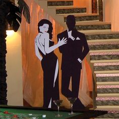 james bond prom different theme tables -