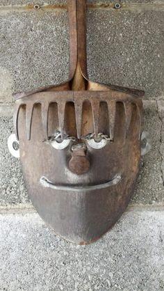 Shovel head metal art by Mike Davis