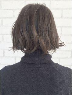 アルバム ハラジュク(ALBUM HARAJUKU)【ALBUM原1】能瀬_アッシュカラー×リップラインボブ_ba14443 Medium Hair Styles, Short Hair Styles, Hair Reference, Short Bob Hairstyles, Short Cuts, Brown Hair, Hair Cuts, Hair Color, Hair Beauty