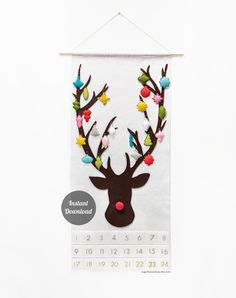 Looking for your next project? You're going to love Advent Calendar - Rudolph - Ornaments by designer sugarhouseshop.